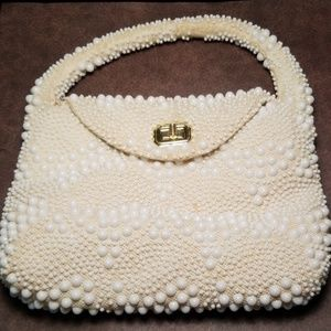 Vintage Hong Kong Candy Dot Beaded Handbag
